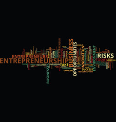 Entrepreneurship and the business environment vector