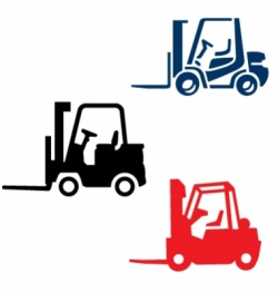 fork lift trucks vector image