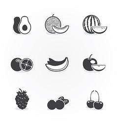 Fruits icons design vector