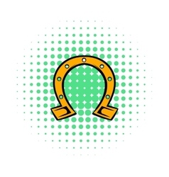 Horseshoe icon comics style vector