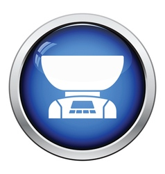 Kitchen electric scales icon vector image