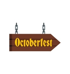 Octoberfest direction sign icon flat style vector