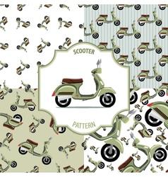 Pattern scooter set number 1 vector image