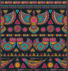 seamless pattern with colorful ethnic vector image vector image