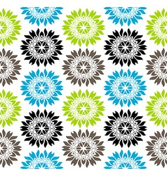 Seamless vibrant colored floral pattern vector