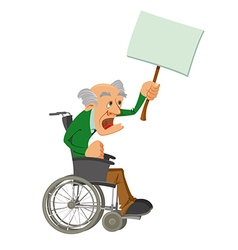 Senior man in a wheelchair vector