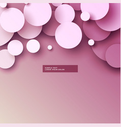 Soft pink 3d circles background vector