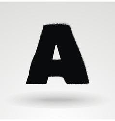 Stencil spray paint font detailed alphabet vector