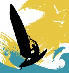 surfing vector image vector image