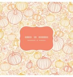 thanksgiving line art pumkins frame seamless vector image