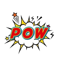 Pow comic pop art style vector