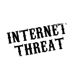 Internet threat rubber stamp vector