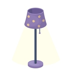 Floor lamp icon in cartoon style isolated on white vector
