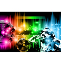 Music club background for disco dance flyer vector