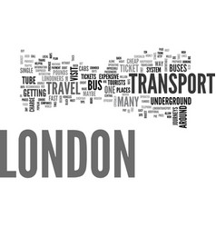 London transport tips text background word cloud vector