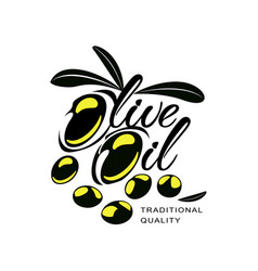 olive oil logo icon brand concept isolated vector image
