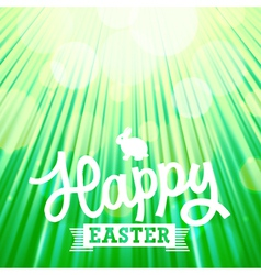 Easter background rays green vector