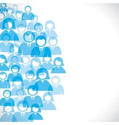 businessmen background vector image