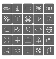 Mystical symbols and sacred signs icons vector