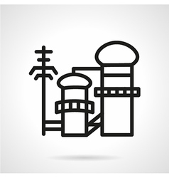 Pulp and paper factory icon vector