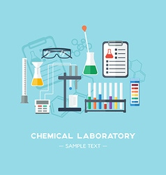 The chemical laboratory background banner cover vector