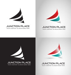 Junction place logo vector