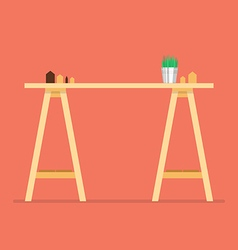 Modern office table vector