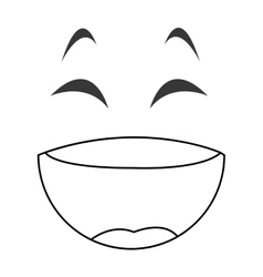 Laughing emoticon face icons vector