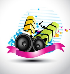 artistic stylish music speaker vector image vector image