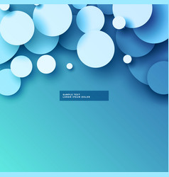 Blue background with 3d circles design vector