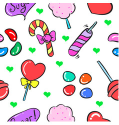 Candy food doodles vector