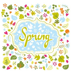 Card for spring vector image vector image