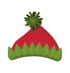 Color image of gnome woolen cap vector