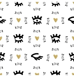 Creative seamless pattern Sketch eyes hand-drawn vector image