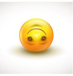 cute upside down face emoticon emoji - vector image