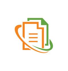 file data office logo vector image