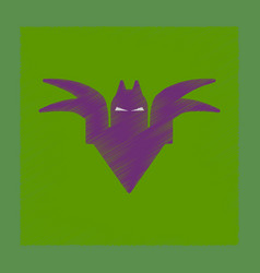 Flat shading style icon halloween bat vector
