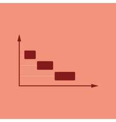 Flat web icon with long shadow economy graph vector