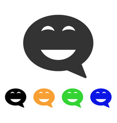 Glad smiley message icon vector