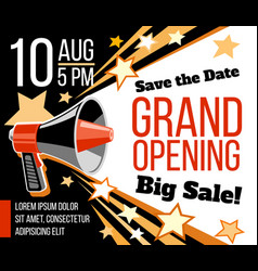 grand opening ceremonial concept with vector image