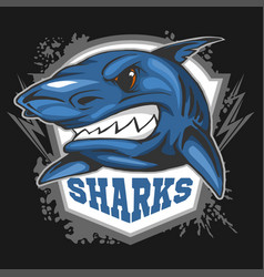 mascot sharks - emblem for a sport team vector image