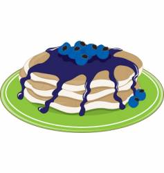 pancakes blueberry vector image vector image