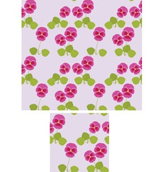 Pansy background vector