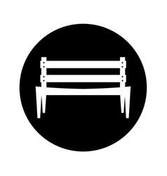 Park chair isolated icon vector