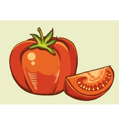 Red tomatos fresh vegetable vector