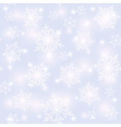 Seamless snowflakes pattern Christmas background vector image vector image