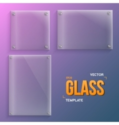 Transparent glass set of realistic vector