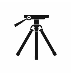 Tripod icon in simple style vector