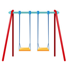 Two swings on blue bar vector