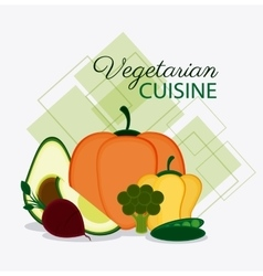 Vegetarian cuisine organic and healthy food design vector